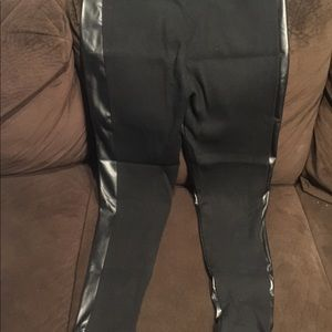 NEW! Victoria's Secret FAUX LEATHER LEGGINGS/PANTS